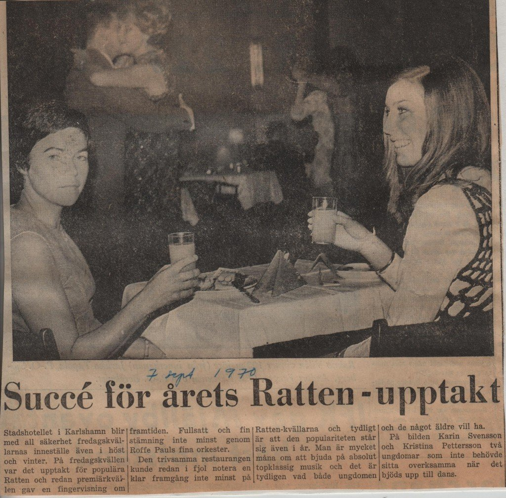 Karin E Dans Karlshamn år 1970