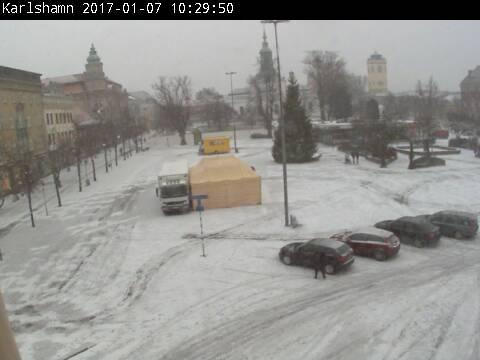 Torget Karlshamn kl 10:29 den 7 jan 2017