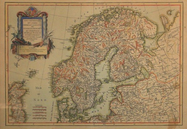 År 1763 Karta över Norden