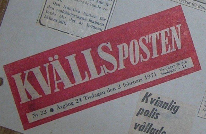 Kvällsposten 2 febr 1971