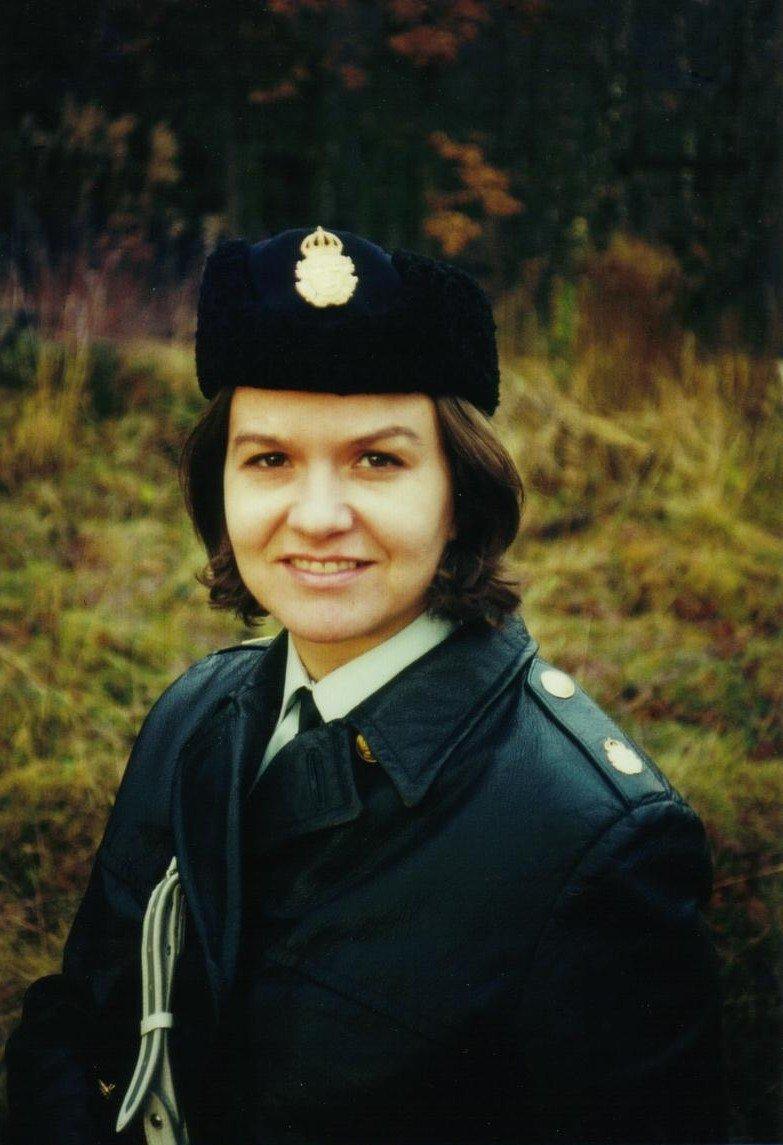 Polisassistent Marjatta Titoff år 1970 i Karlshamn