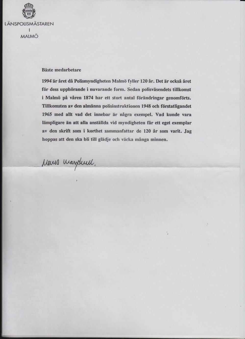 Malmöpolisen 120 år