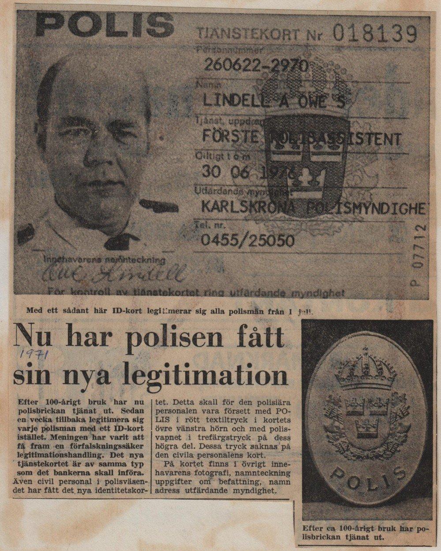 Polisleg år 1971 från Blt