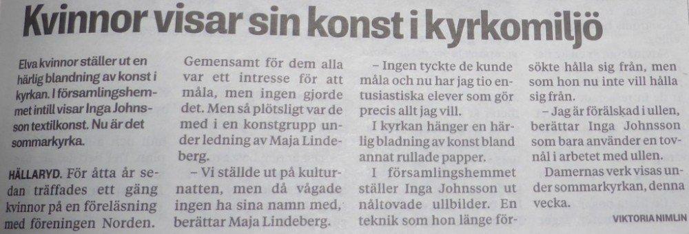 Blekinge Läns Tidning 26 juli 2016