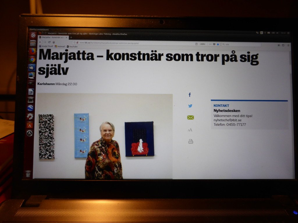 1a8e6ccf63ea Så blev reportaget i Blekinge Läns Tidning – Ateljé Titoff